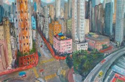 KRYS ROBERTSON: Shanghai Street in late afternoon, Yaumatei. Oil on canvas. 92 x 61 cm. 2013