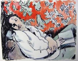 Man sleeping. 2012 Ink, watercolour on paper 22.5 x 18 cm