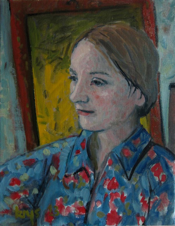 Portrait of Lyddi in Blue
