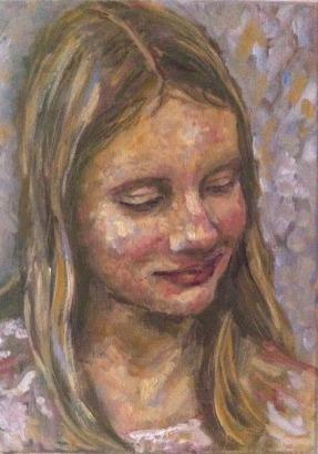 Hannah. Oil on Canvas. 35 x 25 cm, 2015
