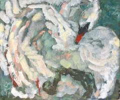 Krys Robertson: Swan I, Oil on canvas