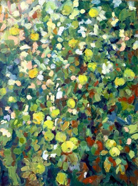 Krys Robertson. Apple Tree. Oil on Canvas, 2020